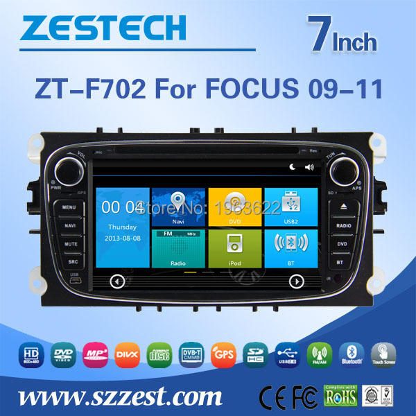 China manufactuer auto 2 din car radio for Ford Focus car radio Built-in TV tuner DVD GPS RDS Bluetooth(China (Mainland))