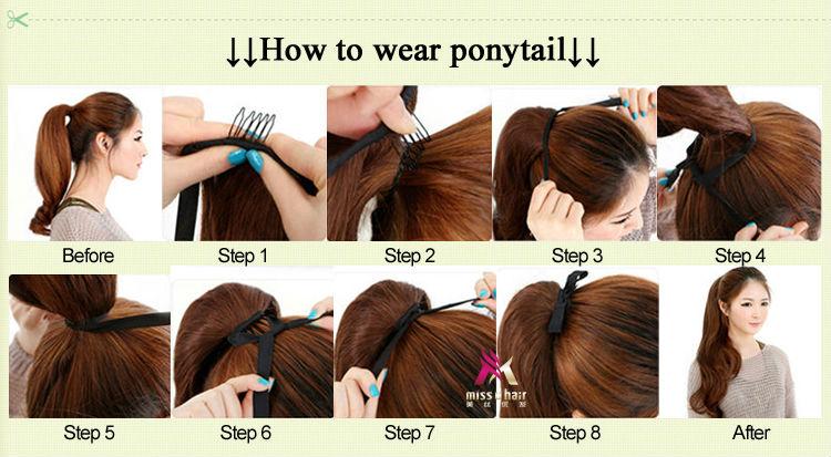 Как сделать хвост из искусственных волос на заколках видео