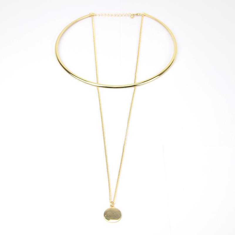 Timeless Wonder Chic circle chain drop Choker Necklace bijoux Collier Torque Women bijoux fancy pop trendy new in runway 1240<br><br>Aliexpress