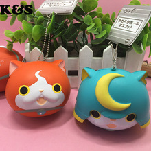 2styles Japan Squishy 8CM 3DS Yo-kai Watch Game Squishies phone charm Cute Cat Wholesale Squishies Toys with Tag CLEARANCE