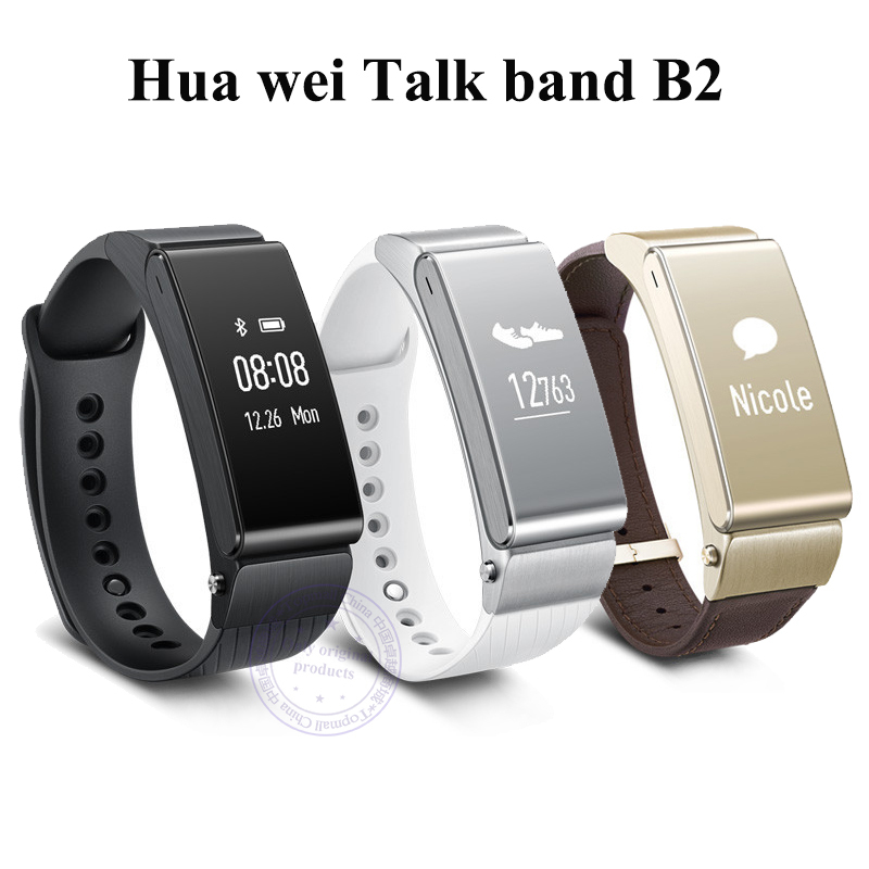 Original Huawei Talk Band B2 Bluetooth Smart Bracelet Fitness Wearable Health Sports Compatible smart Mobile Phone Device(China (Mainland))