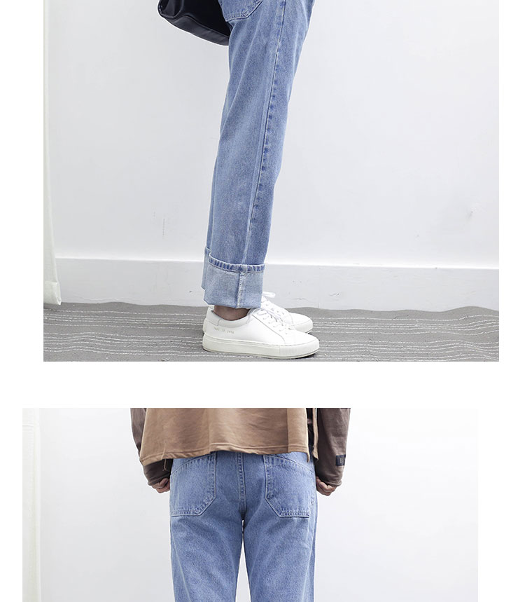2017 Spring Summer New Men High Street Hiphop Straight Jeans Male Fashion Casual Denim Pant