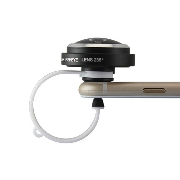 Detachable Clamp 235 Degree 0.4x Super Fisheye Lens for Smart Phone iPhone 6 ipad Samsung Galaxy S6 (5)