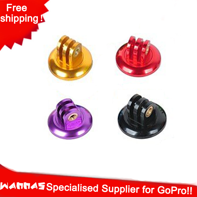 2014 GoPro Gopro accessories  CNC Aluminum Alloy 1/4 Tripod Adapter Mount for GoPro Hero4  3+ / 3 / 2 , golden,purple,red,black<br><br>Aliexpress