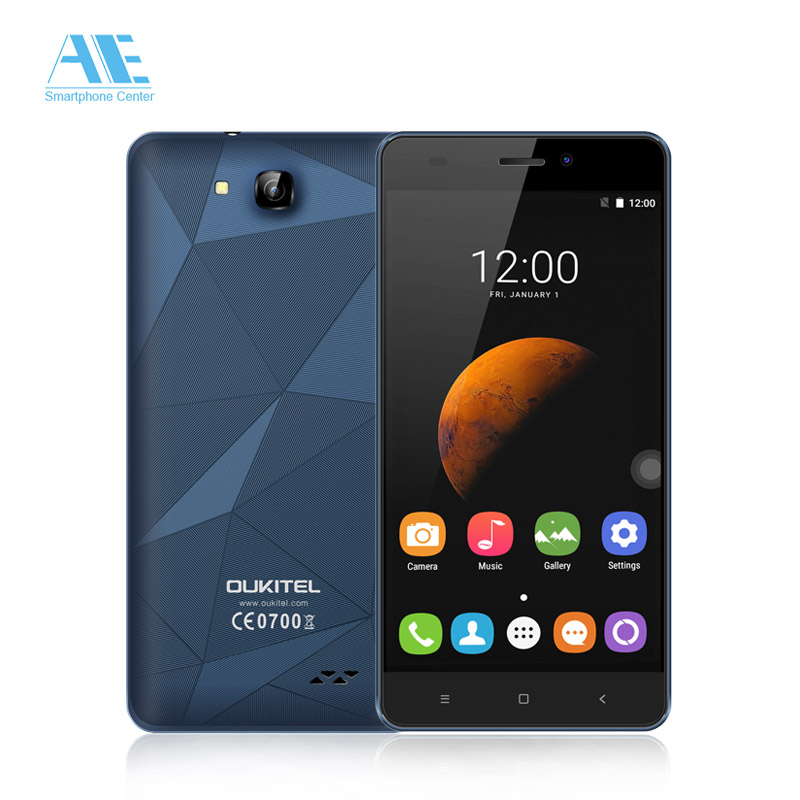 "Oukitel C3 Cellphone Android 6.0 MTK6580 Quad Core Smartphone 1G RAM 8G ROM 5.0"" HD Screen 3G WCDMA Mobile Phone(China (Mainland))"