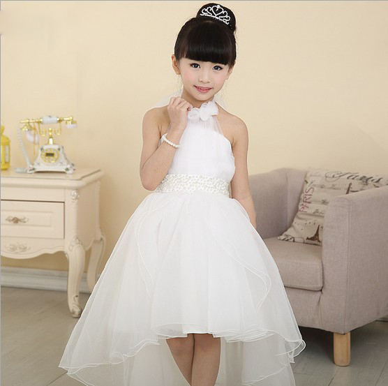 Buy white lace irregular baby girl dress for Dresses for wedding for kids