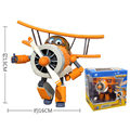 Big 15cm ABS Super Wings Toys Deformation Airplane Robot Action Figures Transformation toys for Kids gift