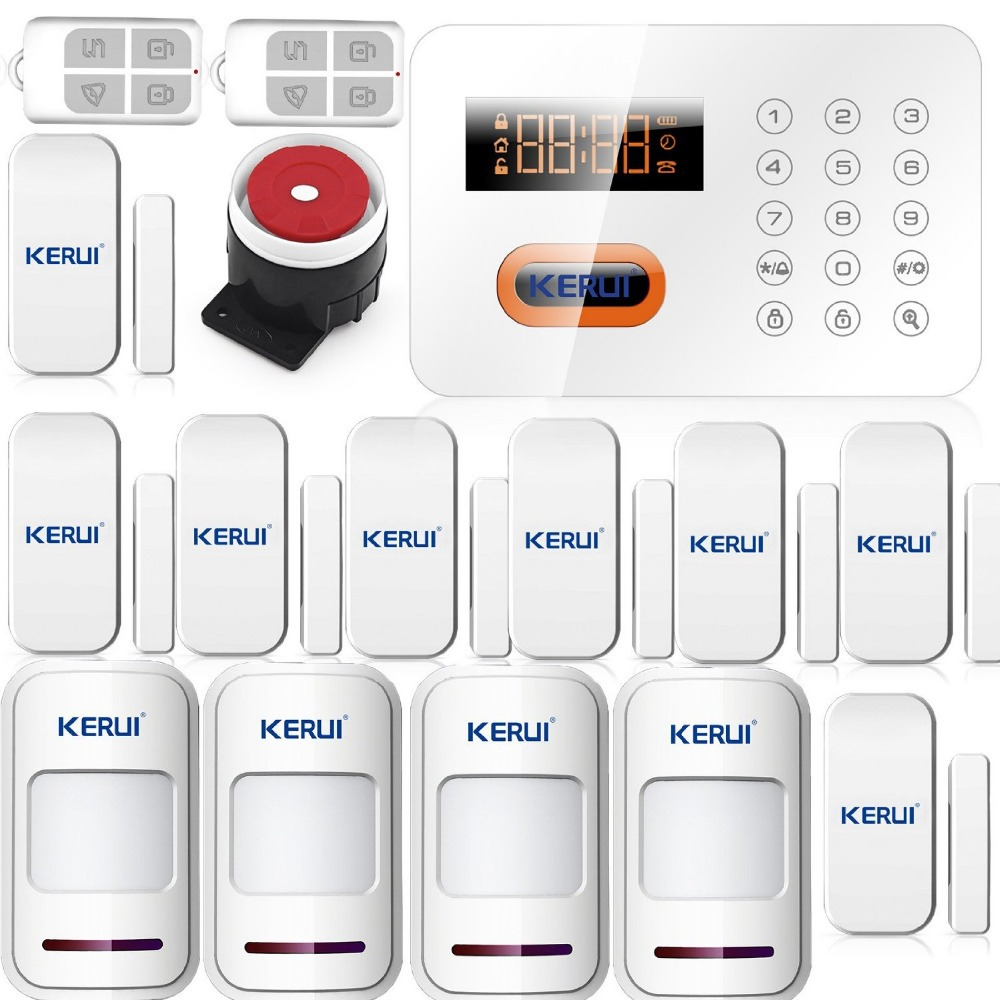 KERUI PSTN 120 Zones Colorful Digital Tube screen Display Intelligent Alarm Touch Keypad Wireless Home Security Alarm System LCD(China (Mainland))
