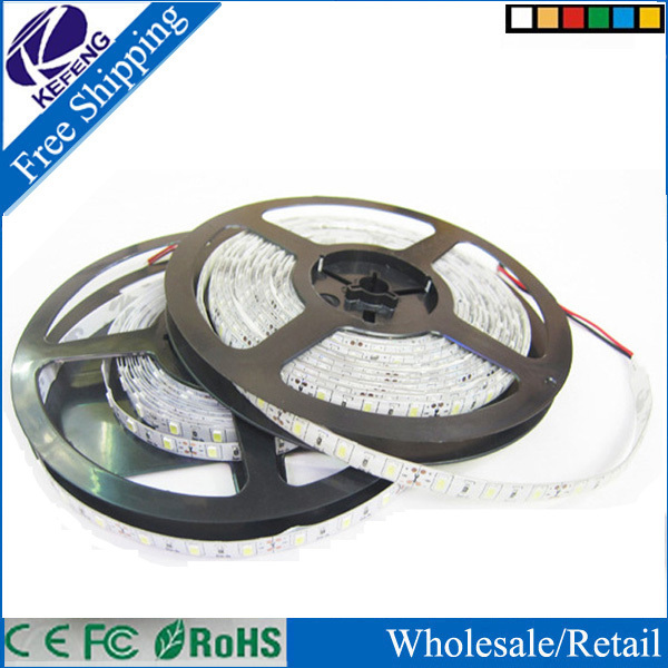10m RGB 600 LEDs 5050 SMD 12V flexible LED strip tape light 60led/m 2x5M Non-waterproof with IR Remote Contr