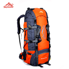 Buy 80L Large Capacity Outdoor backpack Camping Travel Bag Professional Hiking Backpack Unisex Rucksacks sports bag Climbing package for $54.00 in AliExpress store