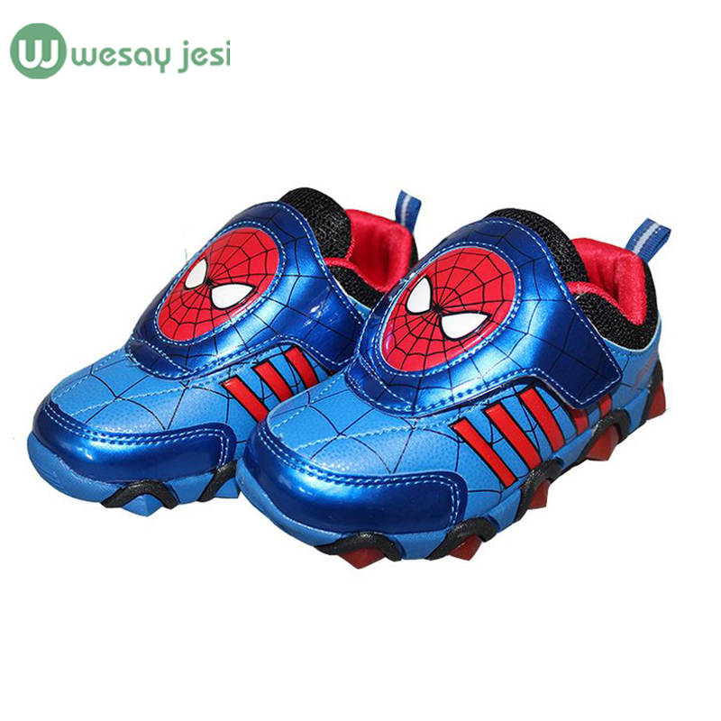 Children Shoes light spiderman Fashion glowing Sneakers brand toddlers girls boys sneakers led shoes Kids sport - WESAY JESI W Co. Ltd. Store store