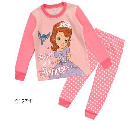 New 2015 Girl Princess Pijamas Baby Clothing Kids Pajamas Sleepwear Sets Pajama pajamas for girls Pyjamas