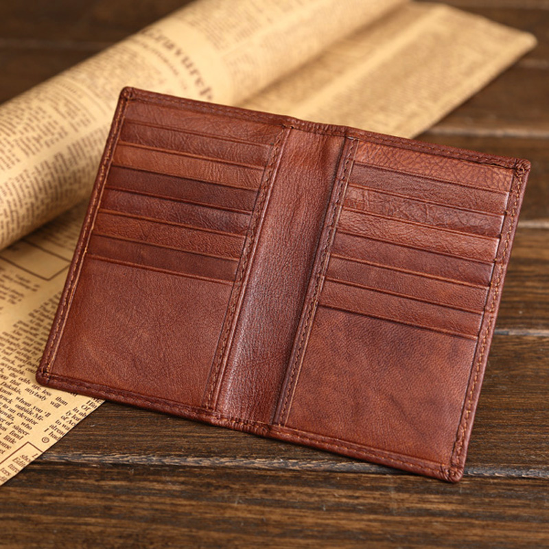 High Quality Genuine Leather Credit Card Wallet Real Leather Card Holder Small Mini Size Cowhide license Holder Bag case(China (Mainland))