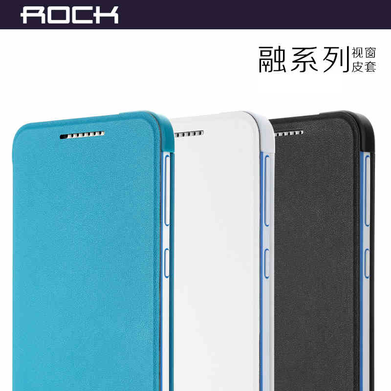 For HTC Desire 820 best quality Original Rock Brand Smart Flip Cover Case for HTC 820 Leather Case,luxury phone cover 3 colors(China (Mainland))