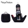 MeiyaShidun Black Orgarnizer Shaving men travel bags Deluxe Large Hanging Hook Travel Toiletry Kit bag Cosmetic