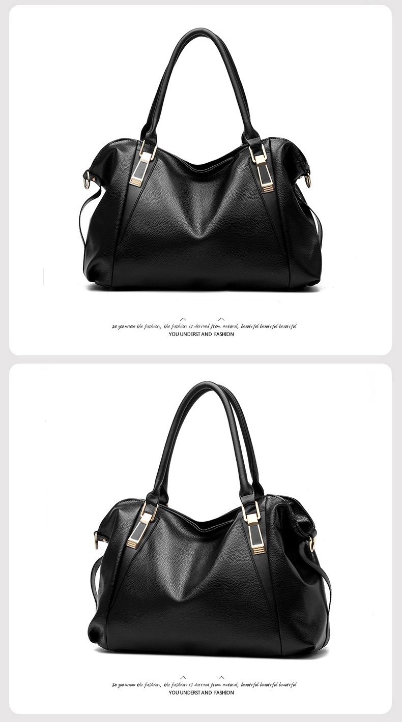 SIMHALF Brand Female PU Leather Bags Handbag Women Handbag Ladies Portable Shoulder Bag Office Ladies Hobos Bag Totes Sac a main