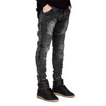 Men Jeans Runway Slim Racer Biker Jeans Fashion Hiphop Skinny Jeans For Men H0292(China (Mainland))