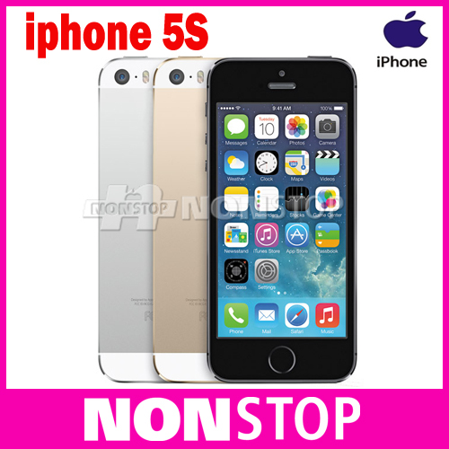 iPhone5s Unlocked Original iPhone 5s 16GB/32GB ROM 8MP iOS 7 cell phones(China (Mainland))