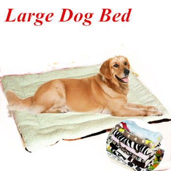 Multicolor Super Soft Large Dog Beds Mats Kennel Max Size 120*70cm two-faced Plush Blanket Bed for Large Dogs Golden Retriever(China (Mainland))