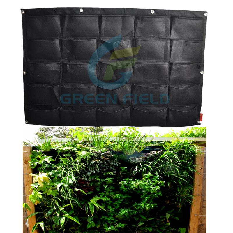 25 Pockets Outdoor Indoor Vertical Garden Herb Flower