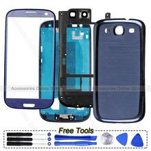 Original Phone Full Housing Frame Bezel Cover Case For Samsung Galaxy S3 Neo i9300 i9305 i535 R530 T999 i747 i9301 Replacement(China (Mainland))