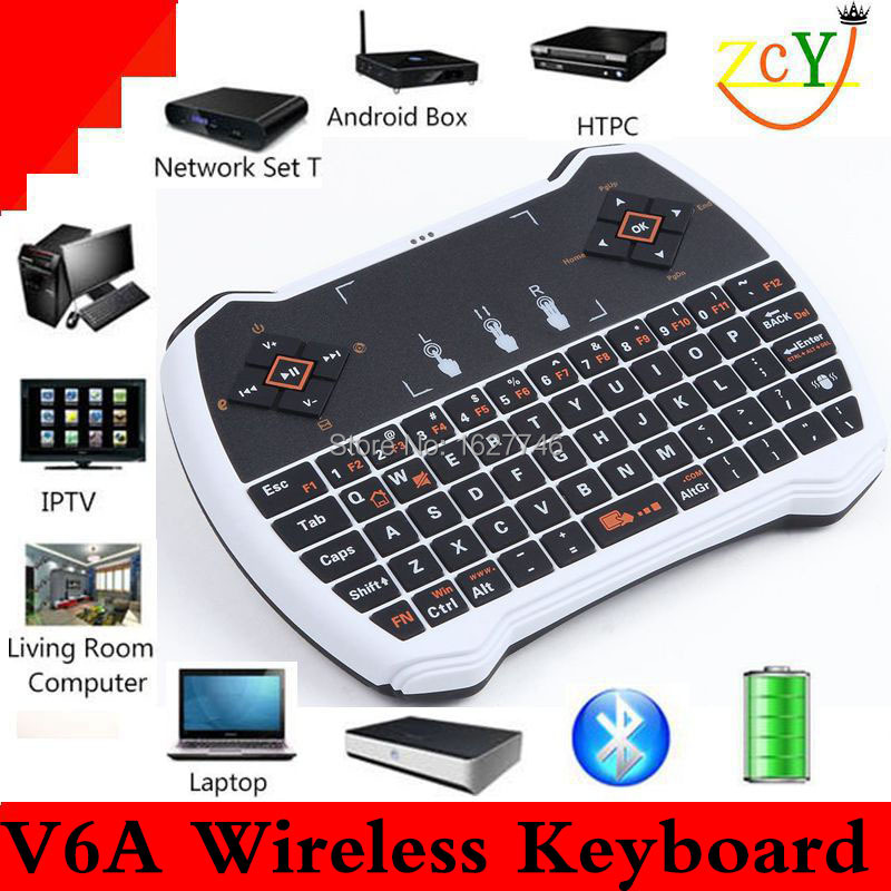 2015 New Arrived 2.4G Rii Mini R6 Wireless Keyboard with Touchpad for PC Pad Google Andriod TV Box wireless air mouse(China (Mainland))