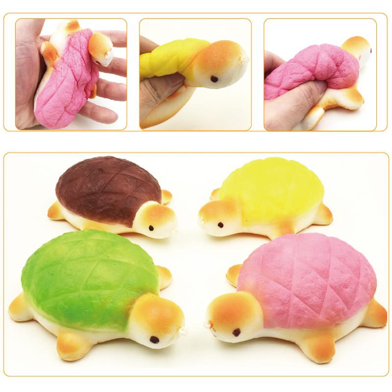 13cm Kawaii Tortoise Squishy Charm Phone Strap Super Slow Rising Squishy Bread Squishies Food Kids Toys Gift Free Shipping(China (Mainland))