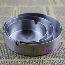 Stainless Steel Ashtray  Metal Tobacco Jar L/M/S 3pcs/lot Free Shipping(China (Mainland))