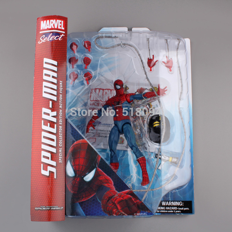 """20pcs/lot Marvel Select The Amazing Spider-man Special Collector Edition Action Figure Toy 7"""" 18cm Free Shipping Hrfg244(China (Mainland))"""