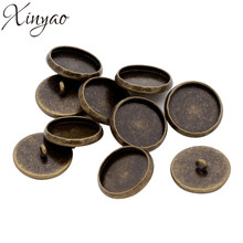 Buy 20pcs Antique Bronze Color Blank Cufflink Base Button Setting Fit 12/14/16/18/20mm Glass Cameo Cabochon Tray For Bezel K0534 for $3.61 in AliExpress store