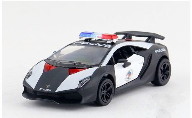 Free shipping Kinsmart 1:38 Sixth element police car Alloy model toys Leap to jump Children like the gift(China (Mainland))