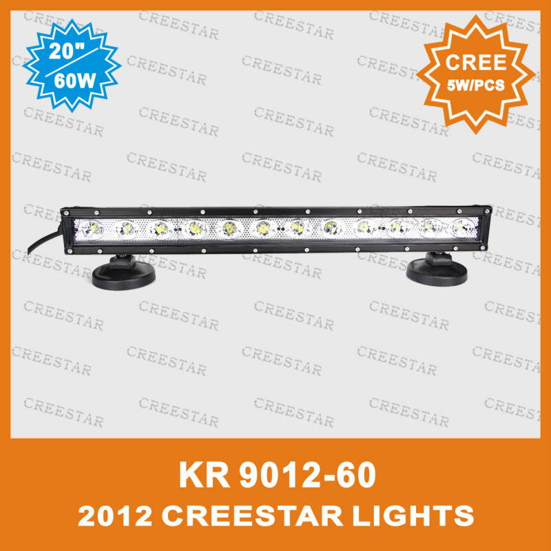 "20"" CREE led offroad bar 60W LED 4WD OFFROAD LIGHT BAR USED CAR FOR TRACTOR TRUCK KR9012-60(China (Mainland))"