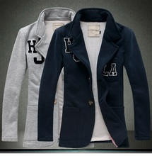British's Style Spring and Autumn 2015 new brand men's Blazer jackets,Slim Fit Regular Single Breasted Men cotton Suit Jacket(China (Mainland))