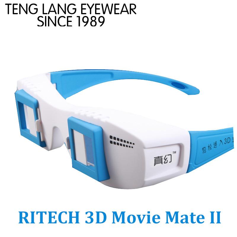 RITECH 3D фильм Мейт II для 3D видео/картинку на обычный монитор или телевизор без функции 3D TV ПК стерео очки 3D Цвет Синий