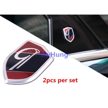 2 Pcs For GHIA Shield Car Decoration sticker For Ford Focus 3 2 ECOSPORT For Ford Fiesta Cruze 2009 - 2012 2013 2014 2015(China (Mainland))