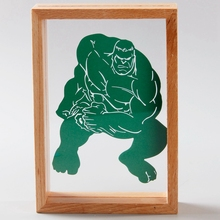 Handmade home decor Paper laser cut picture wood photo table frames for picture Shadow Boxes cartoon anime theme(China (Mainland))