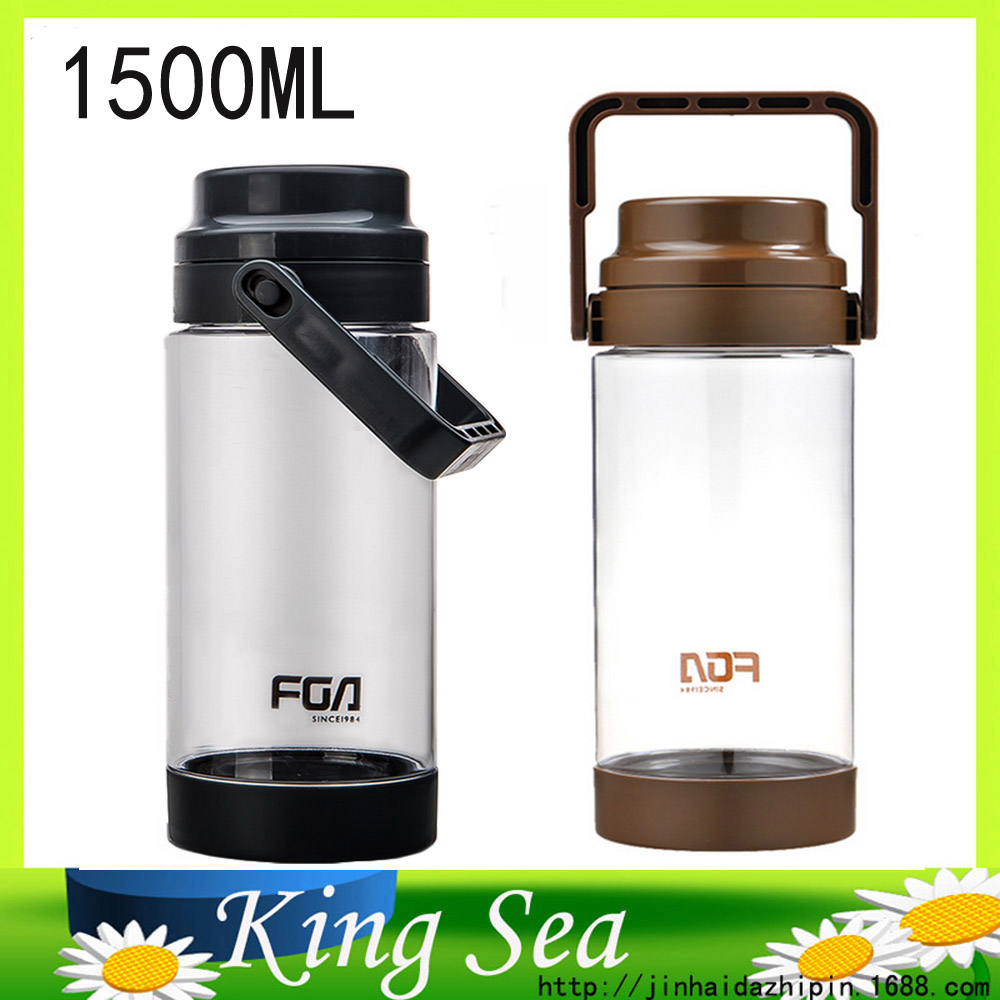 High Quality 1500ml Large-capacity Space Plastic Water Bottles Fashion Portable Travel Sport Water Glass Gift Cup(China (Mainland))