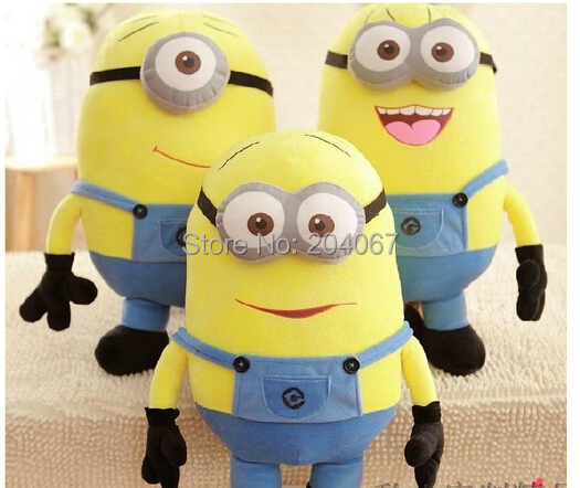 NEW XAMS GIFT DOLL Despicable Me 50CM toys stuffed plush dolls, 3D eyes 3PCS/SET FREE SHIP(China (Mainland))