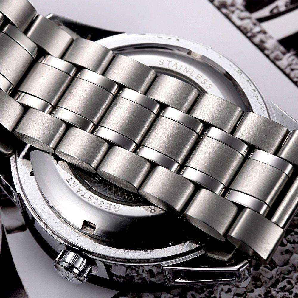 Tevise Tourbillon Автоматические Механические Мужские 24 Дисплей Из Нержавеющей Стали Наручные Часы