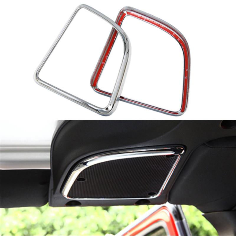 for jeep wrangler 2015 1 set abs chrome interior car roof audio speaker frame cover decorative. Black Bedroom Furniture Sets. Home Design Ideas