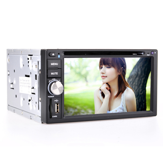 Free Shipping XB-6 Universal 2 Din 6.2 inch Fixed Screen Car DVD Player + GPS With Bluetooth,TV,Radio,RDS,4x45W,800x480