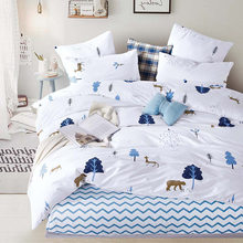 Alanna Printed Solid bedding sets Home Bedding Set 4-7pcs High Quality Lovely Pattern with Star tree flower(China)