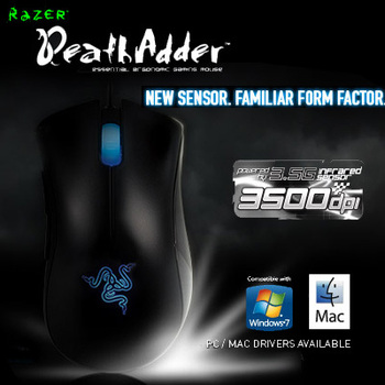 ORIGINAL Razer Deathadder Gaming Mouse 3500dpi Infrared, Brand New In Box Fast Shipping, in Stock.