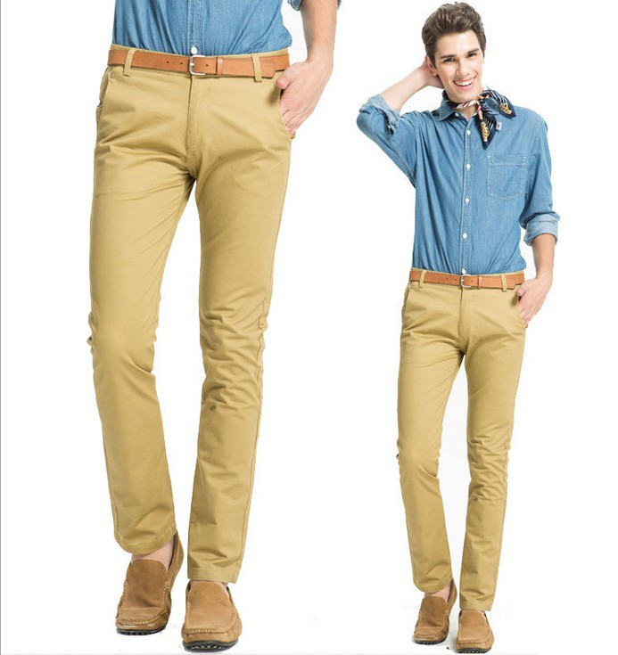 Mens yellow khaki pants - Pi Pants
