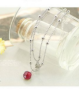 2038 double shiny lure the Red Crystal bead-encrusted swans anklet(China (Mainland))