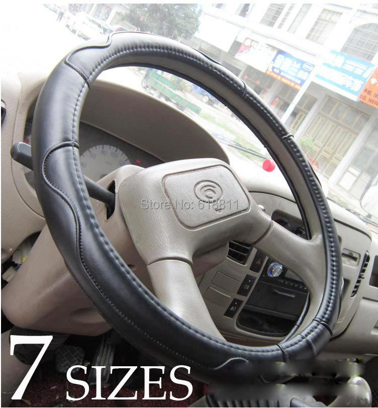 7 sizes Faux lamb leather Steering Wheel Cover for TRUCK BUS CAR with 3 colors Factory wholesale auto parts truck accessories(China (Mainland))