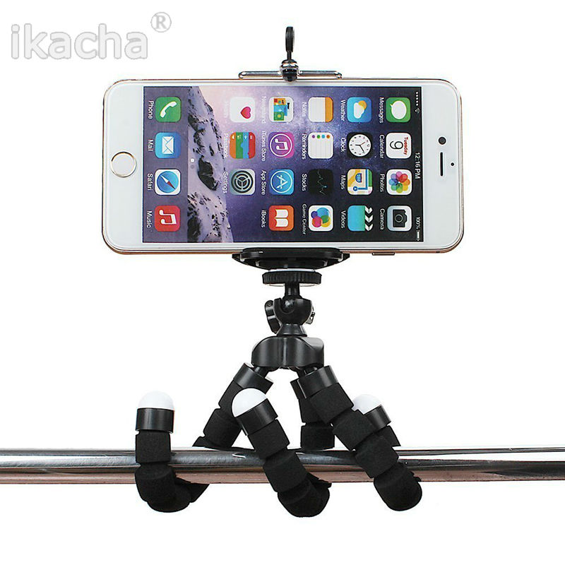 Portable Phone Holder Digital Camera Flexible Octopus Leg Tripod Bracket Stick Adapter Mount Monopod Bubble For Mobile(China (Mainland))