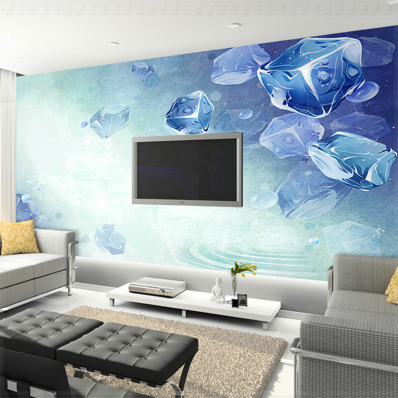 Summer cool wallpaper sofa tv mural bedroom wallpaper 3d for Cool mural wallpaper