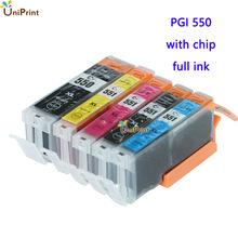 5 x Compatible ink Cartridge PGI550 CLI-551 for Canon IP7250;MG5450/MG5550/MG5650/MG6450/MG6650 MX725/MX925 IX6850 for Europe(China (Mainland))