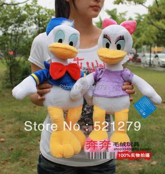 Free shipping 1pair 35cm stuffed Donald Duck Daisy /High quality Plush Stuffed toys /New Room/Sofa/Car pillow/Wedding gifts